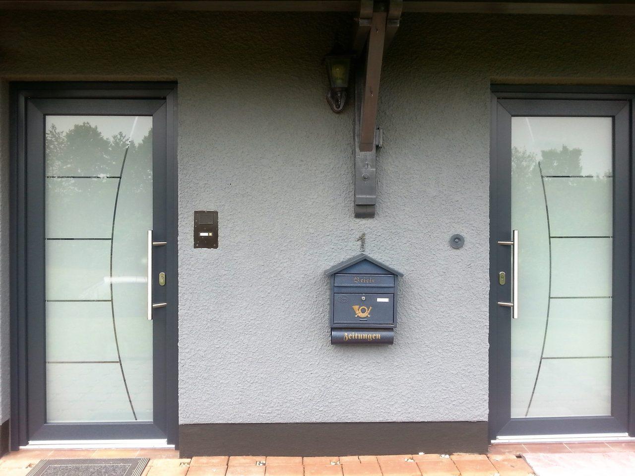 2 Eingänge 2 Türen