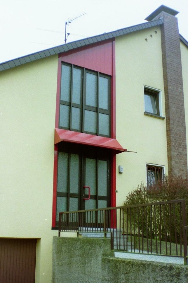 Haustür passend zum Treppenhaus